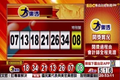10/8 大樂透頭獎上看6.3億 獎號出爐了!
