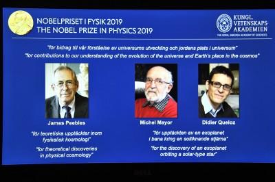 解答宇宙演化發現系外行星 諾貝爾物理獎3人獲獎