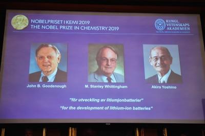 2019諾貝爾化學獎 美英日3學者發明鋰離子電池獲獎
