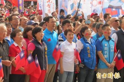 中市國慶升旗 上萬人唱國歌