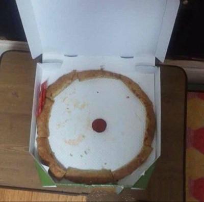 哭哭!家人幫留「部分」披薩 回家打開秒傻眼