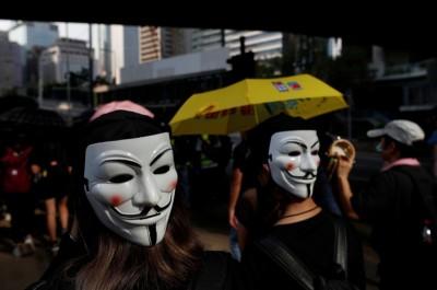 挺港人反抗 美華人號召全球「萬聖節蒙面撐香港」