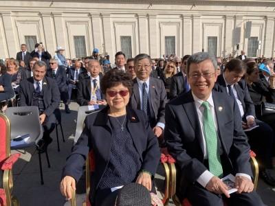 副總統陳建仁出席封聖典禮  當面邀教宗訪台