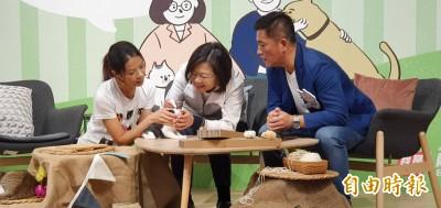 竹市立委參選人鄭宏輝搶攻寵物票 引來最大咖貓奴現身!
