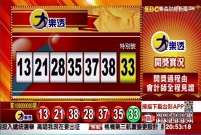 10/15 大樂透頭獎上看7.2億 各項獎號出爐囉!
