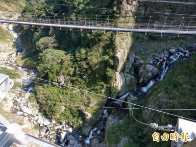 雙龍瀑布七彩吊橋搶先看 跨越峽谷驚見7道水瀑