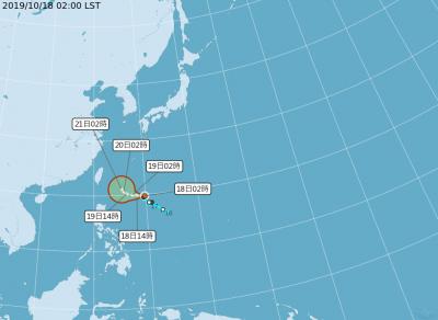 第20號颱風「浣熊」凌晨生成!朝菲律賓緩慢移動