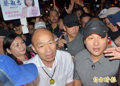 避免蛋襲重演 韓國瑜訪夜市警方佈天羅地網