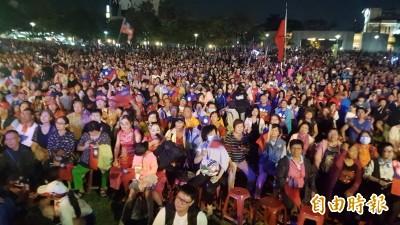 韓國瑜嘉市造勢號稱10萬人 警方估約1.5萬