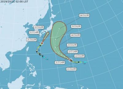 浣熊恐變性溫帶氣旋 週五北東水氣略增