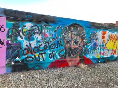 瑞典環保少女壁畫遭破壞 五官全塗黑