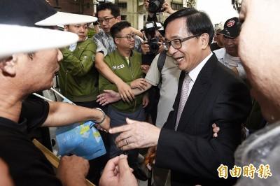 扁、韓誰選舉厲害? 扁:佩服韓市長位子沒坐暖就脫褲子圍海