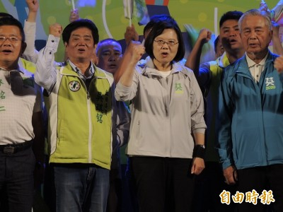 站台力挺吳琪銘 蔡英文:用選票說出台灣人的價值