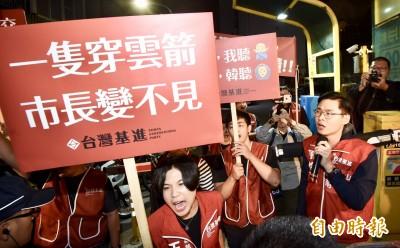 韓國瑜青年論壇 場外遭抗議