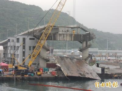南方澳斷橋事發滿月  交通部要求11/5前完成斷橋拆除