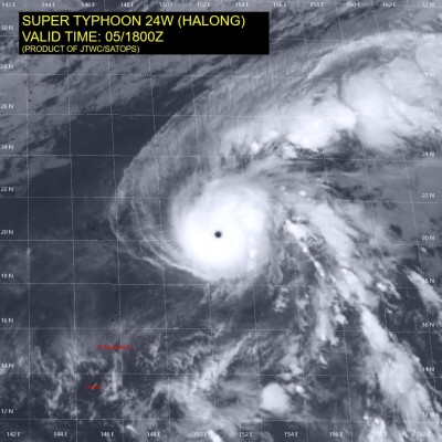 擠下哈吉貝!「哈隆」颱風爆發增強 成西太「風王」