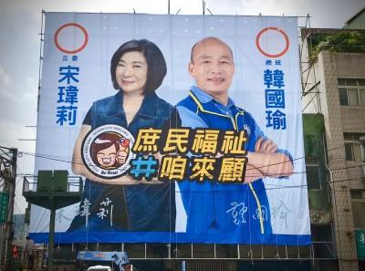 韓國瑜、宋瑋莉明天基隆合體 綠營酸:豪宅王遇上地產王