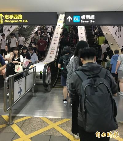 搭電扶梯應「右站左走」?台北捷運公布標準答案