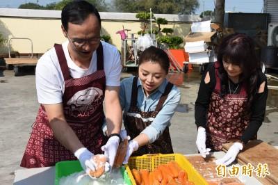 朱立倫合體張嘉郡行銷台灣海口味