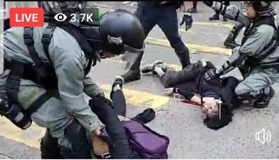 香港今大三罷 傳港警一早實彈開槍民眾流血倒地