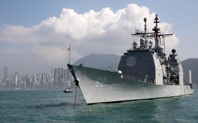 今年第9次!美飛彈巡洋艦「昌塞勒斯維號」航經台海