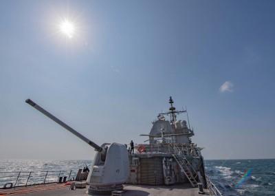 台海軍情》美艦昨航經台海  美國海軍臉書公佈航行任務照