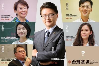 台灣基進不分區立委名單出爐 黨主席陳奕齊排第二