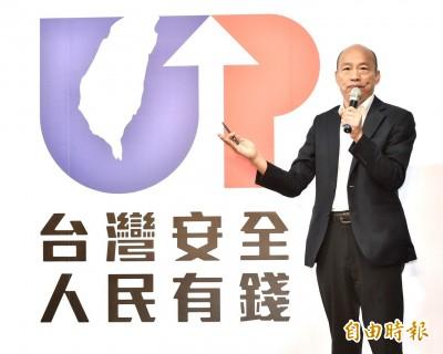 韓國瑜公布「藍天再現台灣UP」競選LOGO