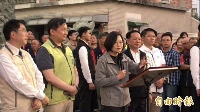 台南拜廟輔選 蔡英文喊話沙崙綠能科學城要成功