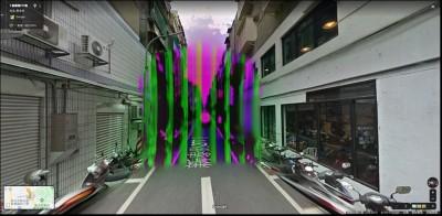 Google街景新莊巷子 他驚見「8柱紫色結界」!