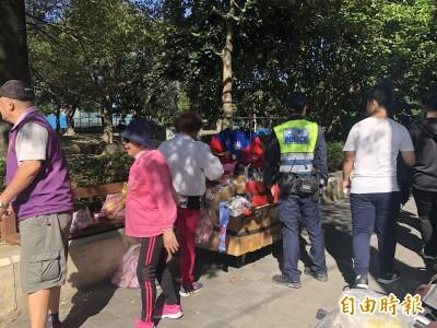 韓國瑜出席新莊造勢大會 韓粉設攤影響行人被驅離