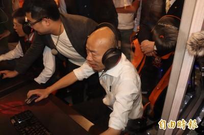 韓國瑜參觀莊敬高職電競科  稱要讓台灣電競產業衝第一