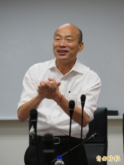 韓國瑜「回師門」討救兵 批台灣民主與媒體荒謬