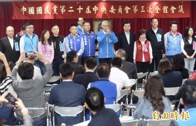 國民黨中央委員通過不分區名單 吳敦義等爭議人物票數難看