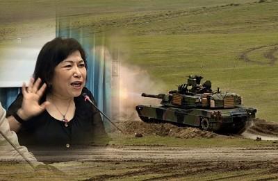 反對美國售台「地表最強戰車」 葉毓蘭上節目被電爆