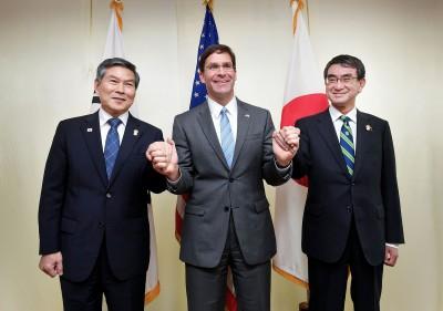 日韓《軍情協定》將失效 美日防長向韓施壓