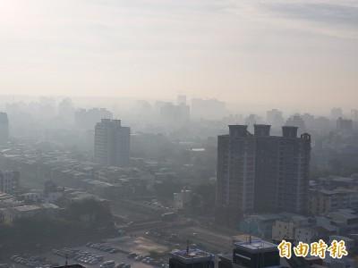 高雄今早空品不良 半數測站PM2.5達橘色等級