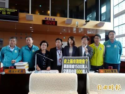 中市府估台灣燈會人次1500萬 議員批:交通局竟估不到500萬
