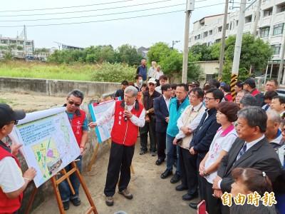 協助安南區解決淹水問題 陳其邁視察安中抽水站