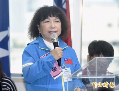 國民黨不分區葉毓蘭再挺港警:恢復治安何錯之有?