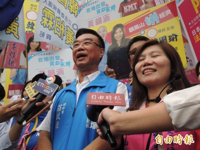 1221高雄挺韓大遊行、造勢晚會 莊啟旺︰至少30萬人