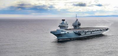 軍情動態》英國新銳航艦入港  年底將正式服役
