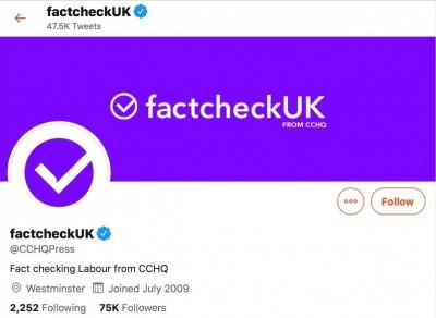 來這一招? 英保守黨帳號改名「事實查核」 遭推特警告