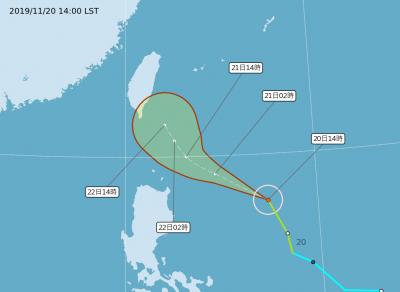 鳳凰颱風改走東部外海 氣象局:明早可能發海警