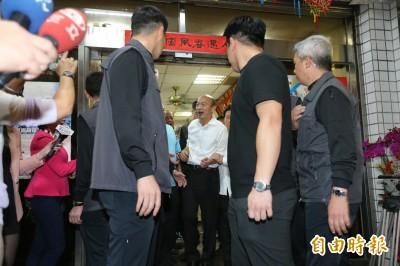 這次沒遲到! 韓國瑜與標哥父子餐敘 提早半小時抵達