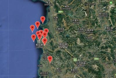 阿爾巴尼亞凌晨6.4地震 1小時內至少4起餘震
