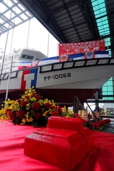海巡署首艘強化編裝巡防艇今下水