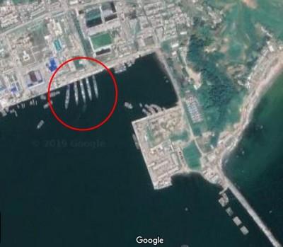 Google地圖拍到軍艦! 金剛山旅遊港口 傳北韓將改回軍用港