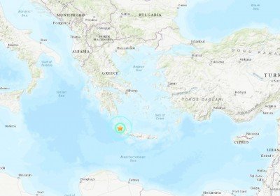 巴爾幹半島不平靜! 希臘克里特島近海發生規模6.0強震