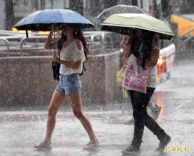 出門注意! 今明4縣市發布大雨特報 18縣市需注意強陣風
